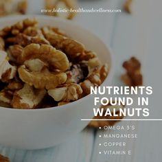 Love walnuts. Look at all these great ingredients.  http://ift.tt/2oaGDW7  #healthyliving #inflammation #antiinflammatory #health #healthyeating #fitness #food #freshfoods #healthbenefits #pain #fitness #diet #weight #energy