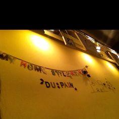 DU:PAIN 뒤빵, 빵의 의미도 있고 뒷방이란 의미도 있는 중의적 의미의 가게 이름XD
