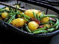 Kartofler med bønner og bacon – Grill venner