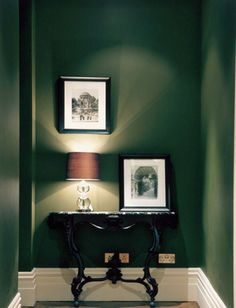 lovely dark green living room wall | 1000+ images about Linen Colour: Deep Green on Pinterest ...