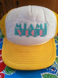 Vintage Miami Vice Trucker Hat. $15.00, via Etsy.
