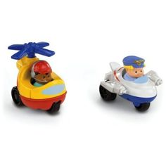 Amazon.com: Fisher-Price Little People Wheelies Jet and Helicopter: Toys & Games