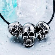 Check out our new item 316L Stainless St.... Just added today get it here http://everythingskull.com/products/316l-stainless-steel-pendant-necklace-new-arrival-super-punk-skull-biker-pendant?utm_campaign=social_autopilot&utm_source=pin&utm_medium=pin