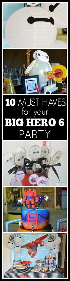Big Hero 6 Party Ideas including inspiration for DIY party decorations, cakes, desserts and treats, party favors and more! Definitely a trend we're seeing! 6th Birthday Parties, Boy Birthday, Birthday Wishes, Birthday Ideas, Baymax, Big Hero 6 Party Ideas, Ideas Party, Fun Ideas, Diy Party Decorations