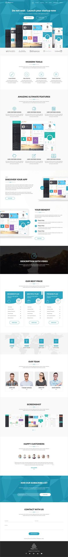 MegaLand is clean and modern design 10in1 responsive #bootstrap template for #software, #SaaS, app, Event, eBook, SEO, resume, travel, restaurant, hosting and real estate business landing page website download now..