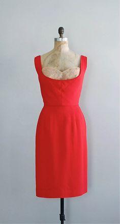 red 1950s dress | LOVE BUZZ 50s dress