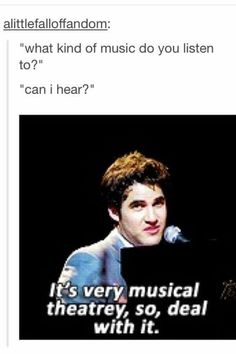 It's VERY musical theatrey so deal with it.