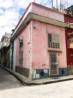 pastel pink building in cuba. / sfgirlbybay