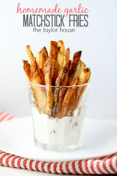Delicious Easy to make Garlic Homemade Matchstick Fries!