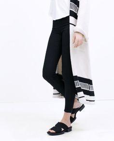 Image 3 of SILK SATIN SANDALS from Zara