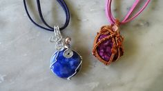 #wirejewelry #copperwire #aluminumwire #pendant #necklace #marblestone
