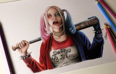 #DRAWINGCHALLANGE - Harley Quinn ( Suicide Squad )