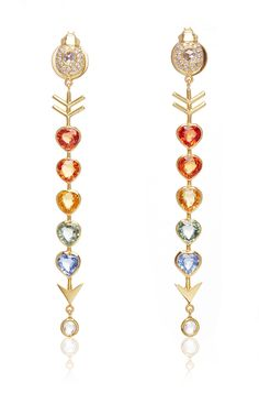 Love Arrow Earrings by DANIELA VILLEGAS for Preorder on Moda Operandi