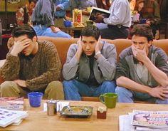 Image de friends, Joey, and chandler #friends #joey #ross #chandler #TV #tv #series #tvshow