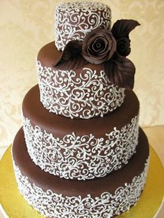 Chocolate #Wedding cake