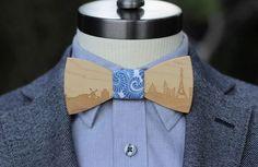 Skyline Paris — Noeud papillon en bois - Two Guys' Bow Ties