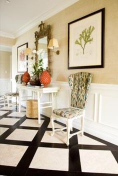Hall floor. Kemble Interiors....love this