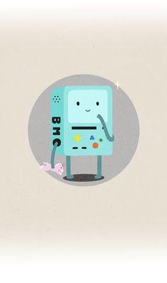 BMO on Behance Adventure Time Steampunk, Adventure Time Wallpaper, Behance, Wallpapers, Cartoon, Random Things, Fun, Draw, Phone