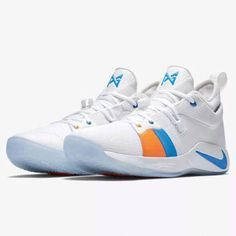 613c608e86c Nike PG 2 Mens Basketball Shoes 12 White Photo Blue Paul George for sale  online
