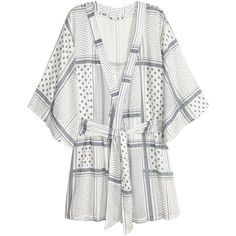 H&M Mønstret kimono 159.20 (1,375 DOP) ❤ liked on Polyvore featuring intimates, robes and kimono robe