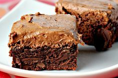Chocolate Fudge Brownies with Chocolate Buttercream Frosting for the Joy theâ?¦