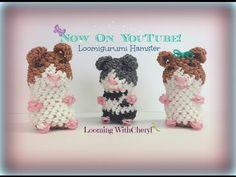 Rainbow Loom Hamster Loomigurumi Amigurumi Hook Only Лумигуруми - YouTube