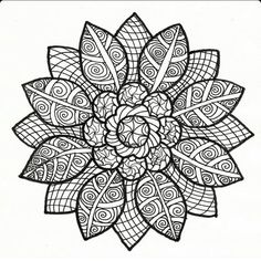 Sunflower Mandala Coloring Pages - Hi coloring lovers! If you are looking for sites giving coloring file like mandala sunflower pictures, then you will Adult Coloring Pages, Mandala Coloring Pages, Colouring Pages, Printable Coloring Pages, Coloring Books, Mandalas Painting, Mandalas Drawing, Mandala Art, Doodle Coloring