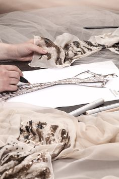 Exclusive gown designed exclusively for Harrods by Roberto Cavalli and handcrafted in Italy - Behind the scenes #gown #RobertoCavalli