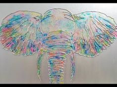 126 Glue Gun Painting Elephant - 126 Glue Gun Painting Elephant You are in the right place about school crafts Here we offer you t - Diy Glue, Glue Gun Crafts, Diy Crafts, Hot Glue Art, Glue Painting, Ceramic Painting, Gun Art, Diy Canvas Art, Canvas Artwork