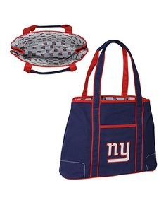 Take a look at this Navy New York Giants Hampton Tote by NFL by Concept One on @zulily today!