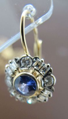 earings - diamonds and saphires