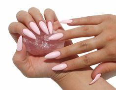 Powder Baby Pink Pantone Color of the Year Matte/Glossy Fake Press On Nails - Stiletto, Oval, Square, Coffin/Ballerina by ExhaleHate on Etsy https://www.etsy.com/listing/262364955/powder-baby-pink-pantone-color-of-the
