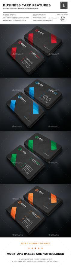 Dark Creative Business Cards
