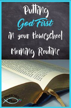 Do you put God first in your Homeschool Morning Routine? Here are some great tips on how to be more Christ Centered in your daily routine. tips Putting God First in your Homeschool Morning Routine {and a giveaway Christmas Activities For Kids, Kids Christmas, Summer Activities, Morning Routine Kids, Was Ist Pinterest, Thing 1, God First, Home Schooling, Homeschool Curriculum