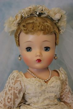 elegant vintage doll