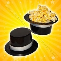 These little top hats provide a fun table setting for your magic birthday party and can be filled with finger-foods, or even cupcakes! $0.49