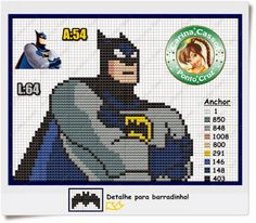 Batman pattern by Carina Cassol - Pontinhos Mágicos