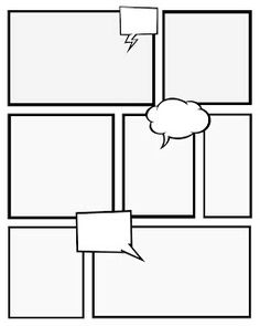 Free printable comic book pages for creative writing.