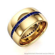 Blue Sapphire Eternity Ring  - oh yes! I can see this with emeralds & white gold/platinum.