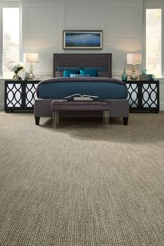 Via Lido a striated loop carpet from Tuftex Carpets of California. Available in wall-to-wall carpet and area rugs. Color 00753.