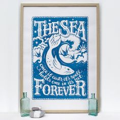 The Sea Limited Edition Screen Print by Alexandra Snowden