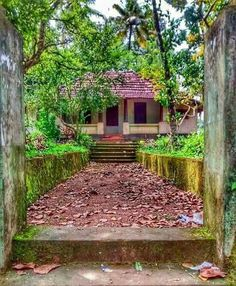 Kerala Architecture, House Architecture Styles, Village House Design, Village Houses, Dslr Background Images, Photo Backgrounds, Village Photography, Nature Photography, Kerala Travel