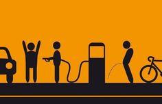 Ahorra con la bici, el combustible para el coche es un atraco a mano armada, mucho ciclismo