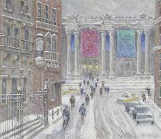 Wiggins, Guy C (b,1883)- Snowy Day Travel- Winter, NYC, III