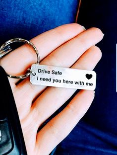Homemade Cards Discover Personalized Drive Safe I Need You Here with Me Keychain Engraved Couples Keyring Customizable New Driver Gift Husband Boyfriend Gift Personalized Keychain Drive Safe Boyfriend Gift Aluminum Bf Gifts, Diy Gifts For Boyfriend, Gifts For Husband, Gifts For Him, Boyfriend Stuff, Boyfriend Ideas, Christmas Presents For Boyfriend, Boyfriend Surprises, Boyfriend Presents