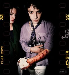 """""""Manic Street Preachers are unloved upstart contenders with a major credibility deficit and going nowhere until Richey Edwards uses a razor blade to carve out shock horror tabloid viability, and an almost immediate deal with a major label."""" / Photographer: Ed Sirrs / Date: 15 May 1991"""