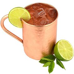 Moscow Mule Copper Mugs by The Kicking Mule, Best For Mules, Beer And Other Ice Cold Drinks, 100% Pure Copper Mug, 16 oz Hammered - Lifetime Warranty The Kicking Mule http://www.amazon.com/dp/B012W3AJ6C/ref=cm_sw_r_pi_dp_TARjwb0ATYV98