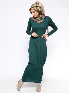 Sweater Dress - Green - Zentoni