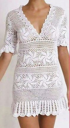Crochet Cardigan, Crochet Lace, Knit Dress, Dress Patterns, Crochet Patterns, Crochet Ripple Blanket, Boho Style Dresses, Beautiful Crochet, Crochet Clothes