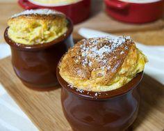 migas y gachas: Soufflé de puerros y parmesano
